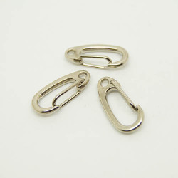 Karbinhake Nickel 22mm 3-pack