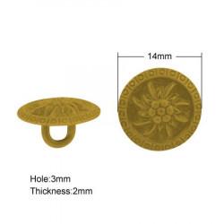 Knapp 14mm 436, Antik Guld,...