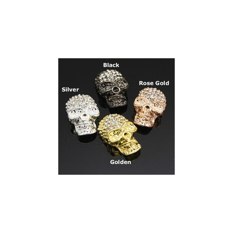 Liten skalle med rhinestone beads 60b084f1eeb62