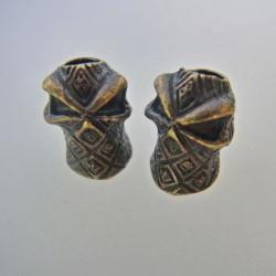 Skalle Metall Ninja 1H Antique Bronze