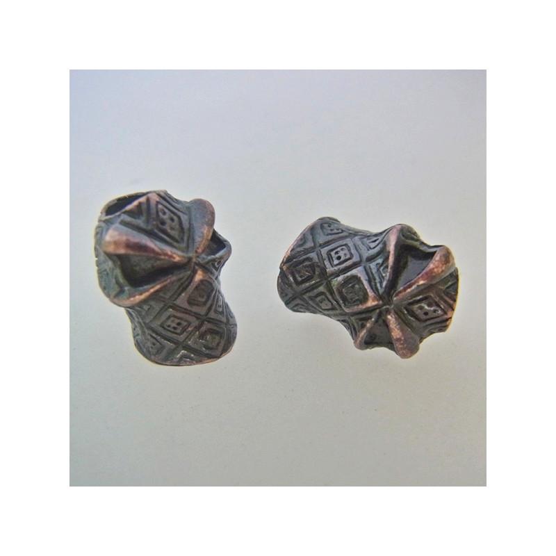 Skalle Metall Ninja 1H Antique Copper