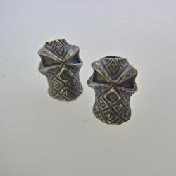 Skalle Metall Ninja 1H Dark Antique Silver