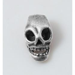Skalle Tibetan Skull Metall 14mm 10-pack Antik Silver
