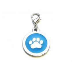 Dog ID-tag 25mm - Paw Blue...