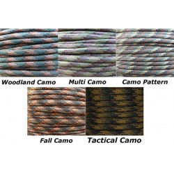 Paracord Set 5 (8ftx5st) Camo
