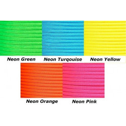 Paracord Set 5 (8ftx5st) Neon