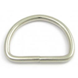 Solid svetsad D-ring 10mm 10-pack
