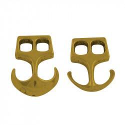 Spänne Ankare 23x16mm, Antik Guld