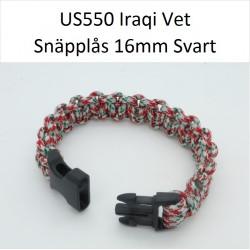 Paracord Armband 24cm Iraqi Vet