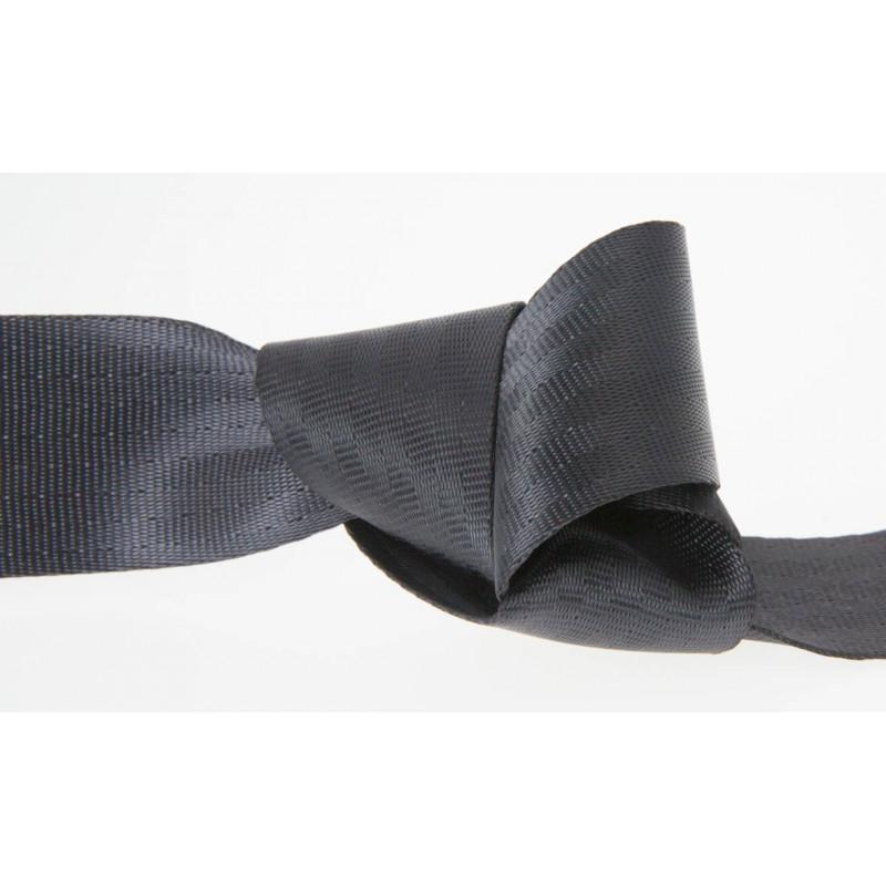 25mm BLACK Polyester Seat Belt Webbing