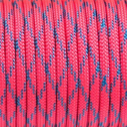 4mm 550, PINK WITH BLUE X...