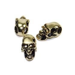 Skalle Metall Goth, Horisontellt Hål, Guld