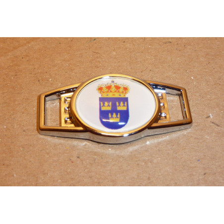 Metal Shoelace Charms Lilla Riksvapnet