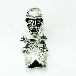 Dödskallespänne Antik Silver
