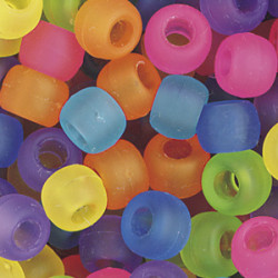 Pony Beads Transparent Frost Mix 50-pack