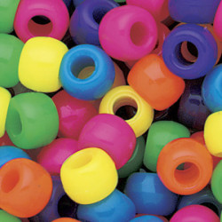 Pony Beads Neon Mix 50-pack