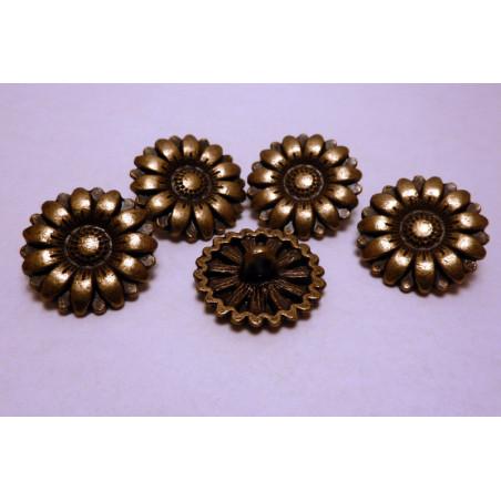 Knapp 17mm Sunflower Antik Brons 160483 5-pack