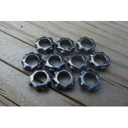 Spacer Beads 6119 Svart 10-pack