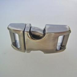 Snäpplås Metall H001 10mm Antique Silver