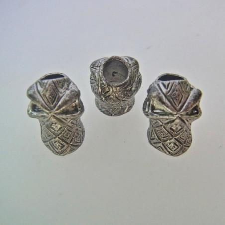Skalle Metall Ninja 1H Antique Silver