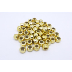 Pony Beads Guld 50-pack
