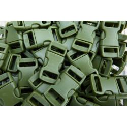 Snäpplås 10mm Army Green 10-pack