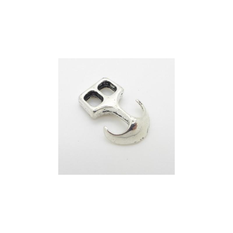 Spänne Ankare 23x16mm, Antik Silver