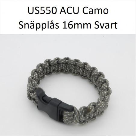 Snäpplås 16mm C1021 Böjd SVART