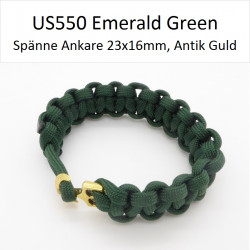 Paracord Armband 20cm Emerald Green