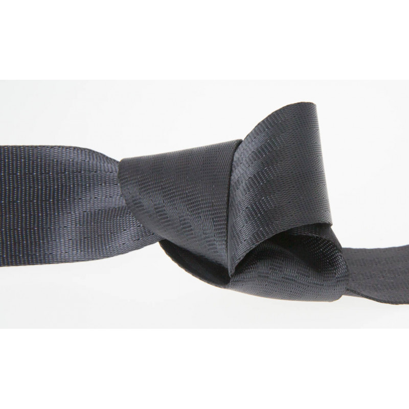 25mm BLACK Polyester Seat Belt Webbing