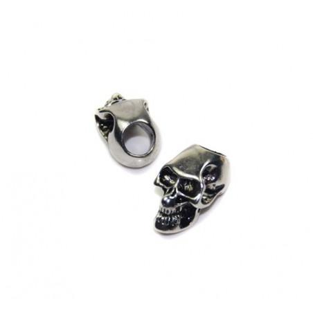 Skalle Metall Goth, Vertikalt Hål, Silver
