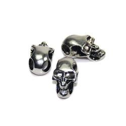 Skalle Metall Goth, Horisontellt Hål, Silver