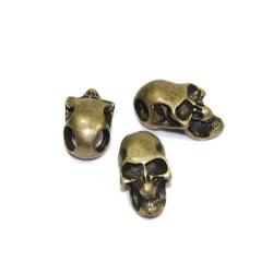 Skalle Metall Goth, Horisontellt Hål, Antik Brons