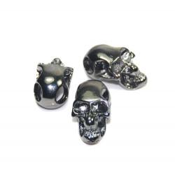 Skalle Metall Goth, Horisontellt Hål, Gun Black